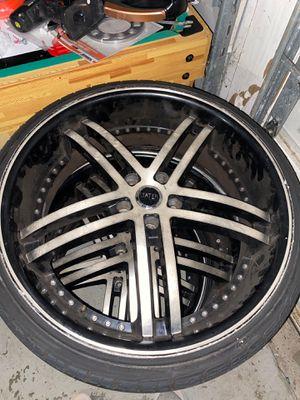 22inch Black/Chrome Rims/Brand New Tires for Sale in Atlanta, GA