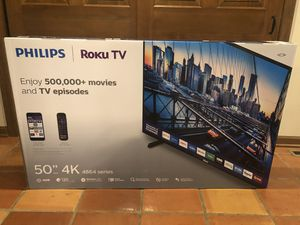 PHILLIPS 50inch smart tv with Roku retails for $329. Selling for $275 for Sale in Naperville, IL