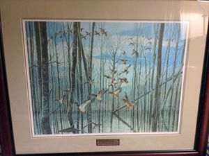 Sand Slough Mallards Richard Timm framed print for Sale in Royal Oak, MI