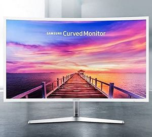 "NEW- 32"" Samsung Curved Monitor: White/ Grey Stand for Sale in Montclair, CA"