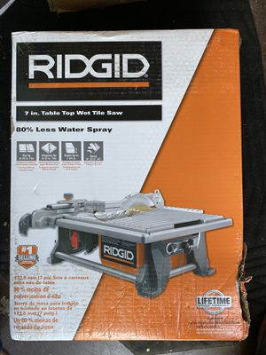 Rydgid 6.5 Amp Corded 7 in. Table Top Wet Tile Saw brand new for Sale in Los Angeles, CA