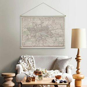 Habitat LONDON Map Hanging Linen Wall Tapestry for Sale in Woburn, MA