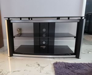 Black glass TV Stand for Sale in Las Vegas, NV