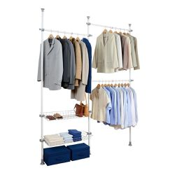 Floor to ceiling clothes organizer: Wenko Herkules Duo extended for Sale in Fuquay-Varina,  NC