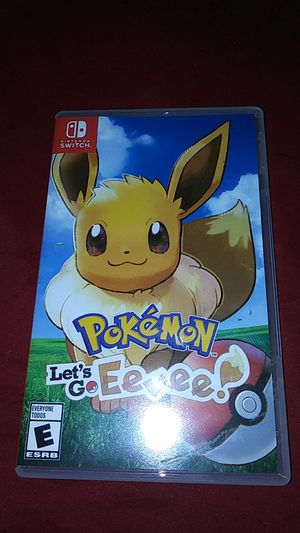 Pokemon lets go Eevee for nintendo switch for Sale in Boston, MA