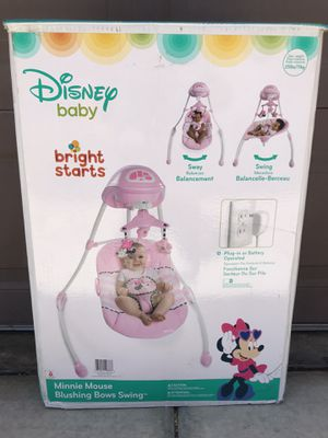 Disney Minnie Mouse Blushing Bows Baby Swing for Sale in San Diego, CA
