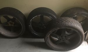6 22in rims and 4 tires for Sale in Houston, TX