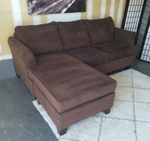 Nice brown fabric sectional sofa • Excellent condition • 🚚 FREE DELIVERY 🚚 for Sale in Las Vegas, NV