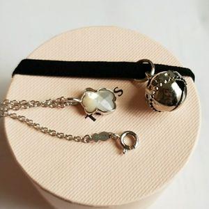 """TOUS mini white quartz bear necklace 18"""" for Sale in Riviera Beach, FL"""