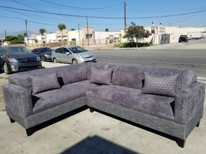 NEW 7X9FT GUILTED CHARCOAL FABRIC SECTIONAL COUCHES for Sale in Bakersfield, CA
