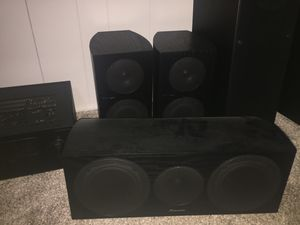7 piece Speaker, Subwoofer, and receiver set for Sale in San Diego, CA