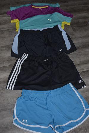 Lot of Designer Excercise Clothes - Puma Shirt size Medium - Nike Shorts size Large - Adidas Shorts size Large - Under Armour Shorts size Large for Sale in Longmont, CO