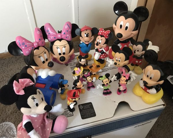 Lot of Mickey Mouse Minnie Mouse Toys
