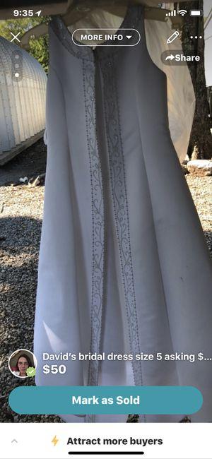 2 flower girl dress 1david bridal size 5/1 Oleg Cassini size 8 for Sale in Lebanon, TN