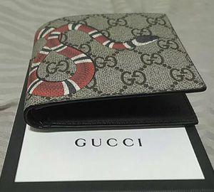 Gucci Wallet Monogram Supreme King snake Bi Fold for Sale in Dallas, TX