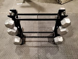 DUMBBELLS WITH RACK for Sale in Brentwood, CA