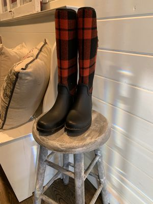 Plaid rain boots size 10 for Sale in Lake Zurich, IL