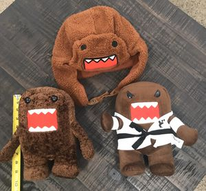 Domo Karate Plush Toy Doll And Hat All this $5 for Sale in Port St. Lucie, FL
