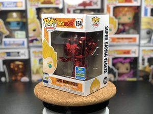 Funko Pop! Dragonball Chrome Red Vegeta SDCC Shared Exclusive #154 w/ Protector for Sale in Seattle, WA