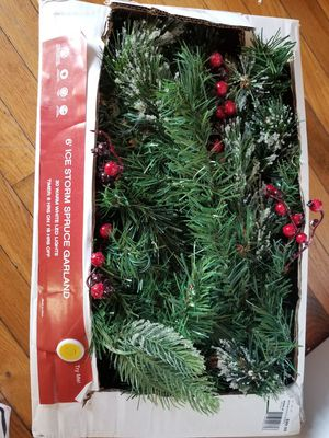 Ice Storm 6ft LED Spruce Christmas Garland for Sale in Parkersburg, WV