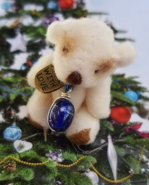 One of a kind miniature teddy bear for stocking stuffer for Sale in Punta Gorda, FL