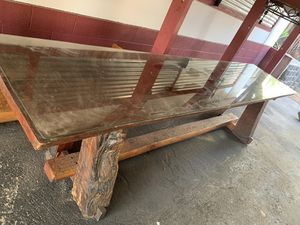 Custom made redwood table for Sale in Fallbrook, CA