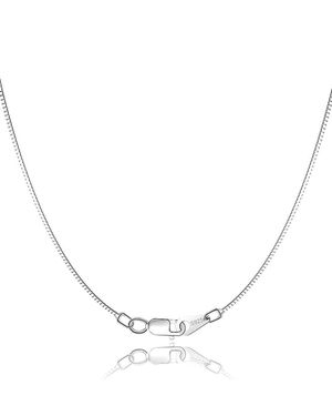 18K Gold Sterling Silver Chain for Necklace Women Girl Italy Silver Chain Necklace 0.8mm 925 Sterling Box Chain - for Sale in Allen, TX