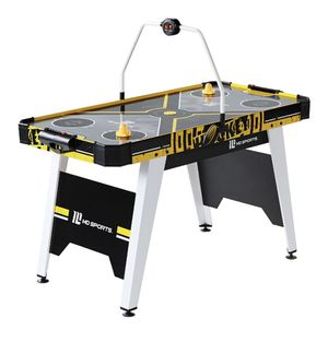 """MD Sports 54"""" Air Powered Hockey Table with Overhead Electronic Scorer, Accessories Included, Black/Yellow for Sale in Surprise, AZ"""