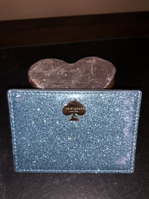 Blue sparkly Kate Spade Card Holder for Sale in Houston, TX