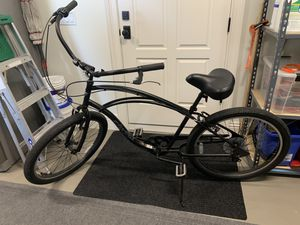 Men's Electra Matte Black beach cruiser with 7 gears for Sale in Orlando, FL