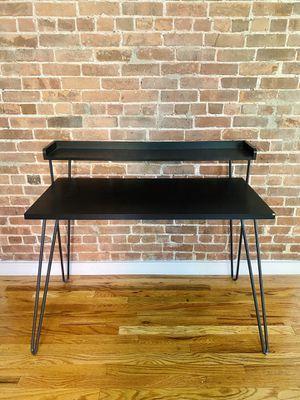 Beautiful dark wood modern desk for Sale in New York, NY
