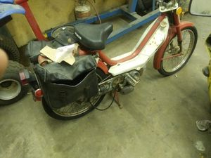 1978 Honda Hobbit Factory leather saddlebags needs restored $300 Motors not locked up for Sale in Lowell, NC