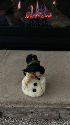 Felted handmade snowman for Sale in Fort Wayne, IN