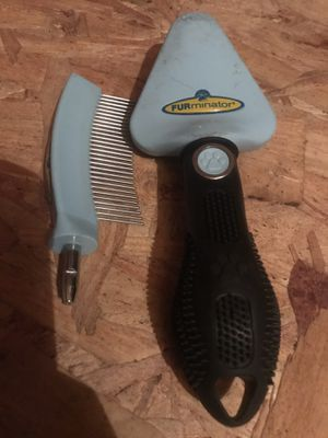 Furminator brush with double head attachment - for pet / CAT or DOG for Sale in Indianapolis, IN