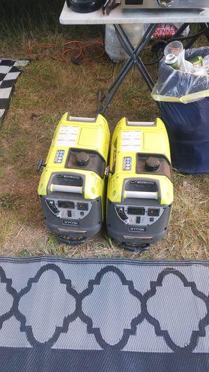 2 ryobi inverter generators quiet for Sale in Fall River, MA