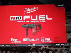 "Milwaukee M18 Fuel Brushless Rotary Hammer SDS-MAX 1-9/16"" NEW for Sale in Kent, WA"