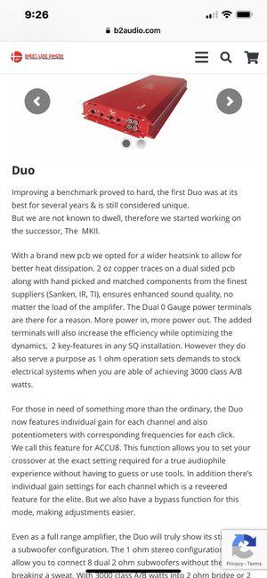 B2 Audio Duo 2 3000 watt amp for Sale in Laurel, MD