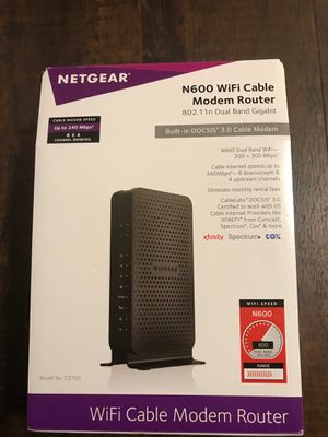 NETGEAR N600 WiFi Cable Modem Router for Sale in Houston, TX