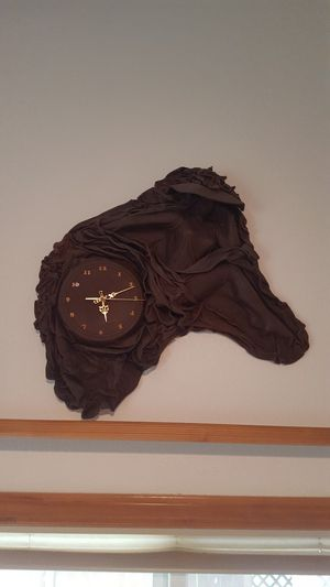 Clock made out of leather for Sale in Vancouver, WA