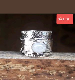Moonstone Spinner Ring for Sale in Creedmoor, TX