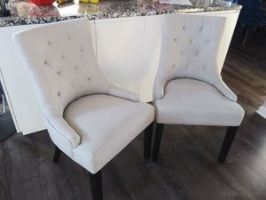 2 Light Grey Dining Chairs for Sale in Pataskala, OH