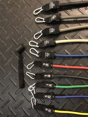 10 bands - 10 to 100 lbs for Sale in Boca Raton, FL