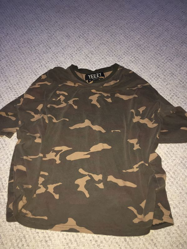 Yeezy season 1 camo jersey shirts sz L