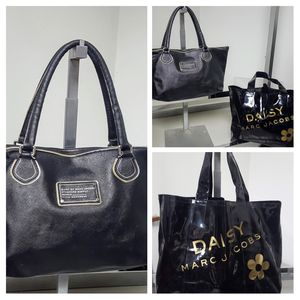 Lot of 2 Marc Jacobs Bags 1 Saffiano Leather Tote & 1 Faux Shopper for Sale in Kenosha, WI