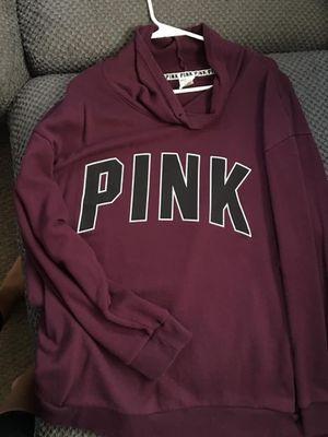 Victoria secret pink xl cowl neck hoodie for Sale in Garden City, MI