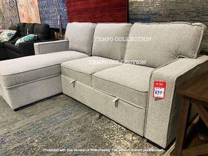 NEW, Grey Sectional w/ Pull-Out Sleeper, SKU#TCCM6964 for Sale in Huntington Beach, CA