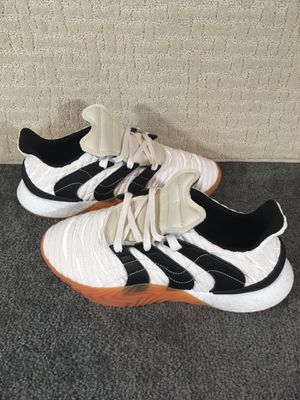 Adidas Sobakov Boost Crystal White Core Black Gum Brown Mens Sz 11 for Sale in Kissimmee, FL