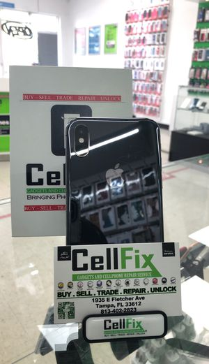 iPhone X 64GB factory unlocked for Sale in Tampa, FL