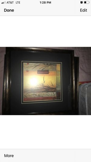 Pictures in frame in excellent condition sold as set for Sale in Modesto, CA