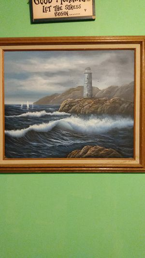 Ocean/ lighthouse picture for Sale in Albany, NY